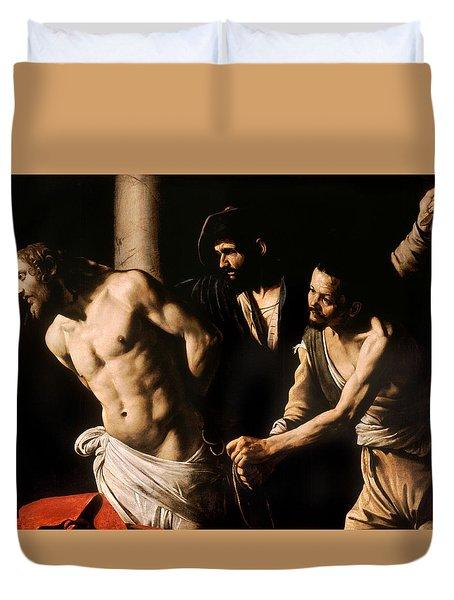Christ At The Column Duvet Cover