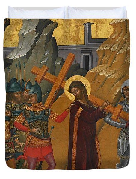 Christ Bearing The Cross Duvet Cover
