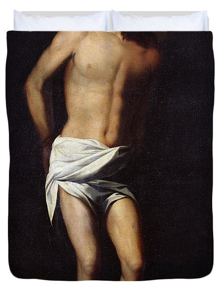 Christ Bound To The Column Duvet Cover