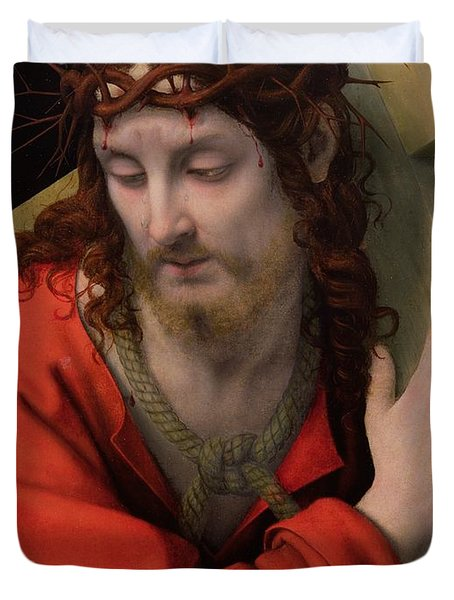 Christ Carrying The Cross Duvet Cover