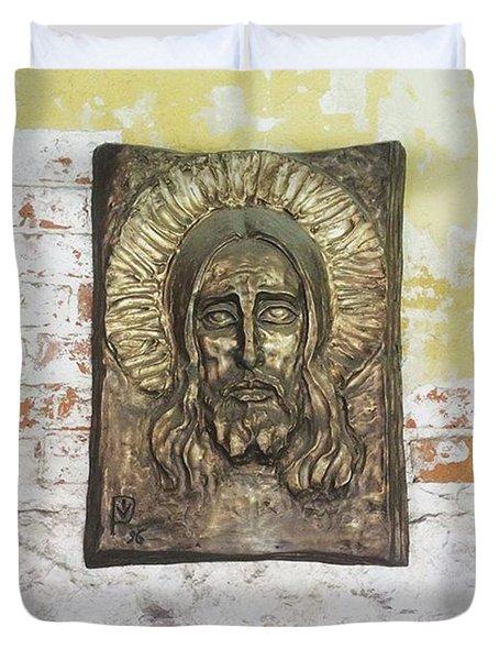 #christ #christians #religion #face Duvet Cover