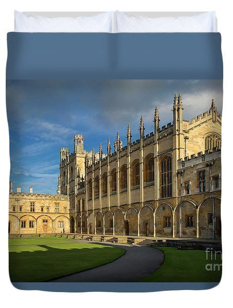 Duvet Cover featuring the photograph Christ Church College II by Brian Jannsen