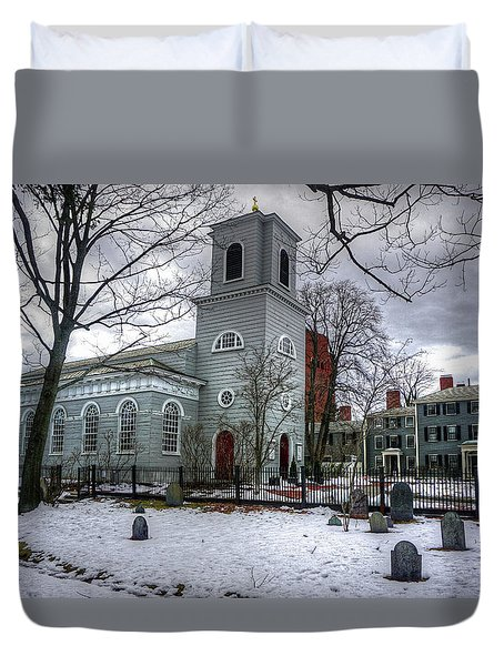 Duvet Cover featuring the photograph  Christ Church In Cambridge by Wayne Marshall Chase