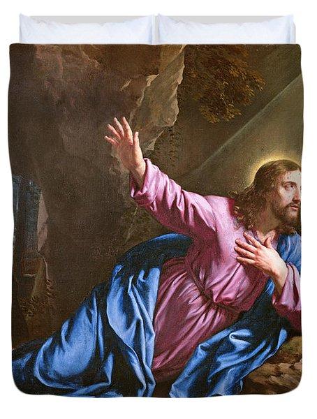 Christ In The Garden Of Olives Duvet Cover