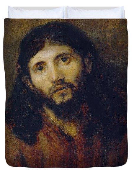 Christ Duvet Cover by Rembrandt Harmensz van Rijn