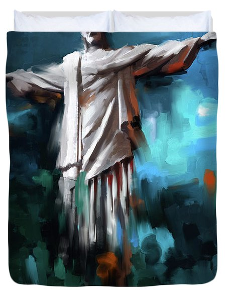 Christ The Redeemer 429.3 Duvet Cover