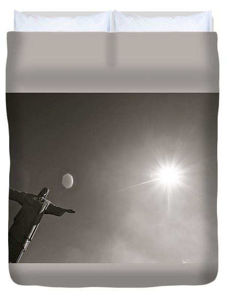 Christ The Redeemer Duvet Cover by Mark Nowoslawski