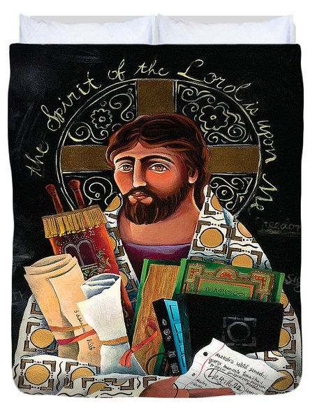 Christ The Teacher - Mmctt Duvet Cover