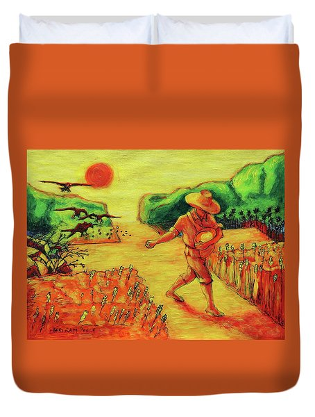 Christian Art Parable Of The Sower Artwork T Bertram Poole Duvet Cover