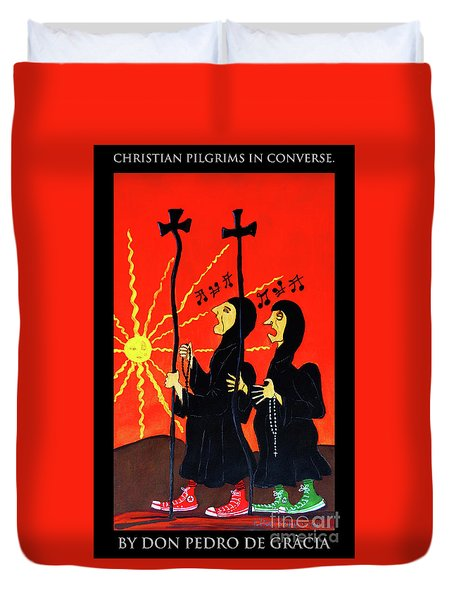 Christian Pilgrims In Converse Duvet Cover