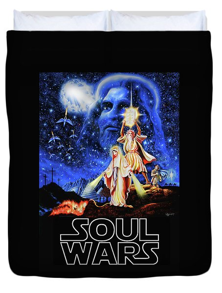 Christian Star Wars Parody - Soul Wars Duvet Cover