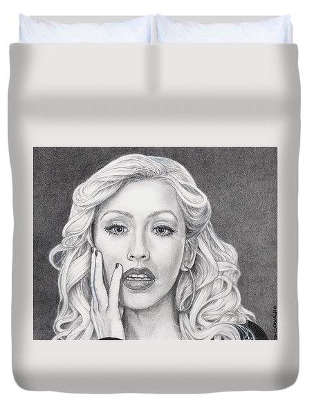Christina Aguilera Duvet Cover