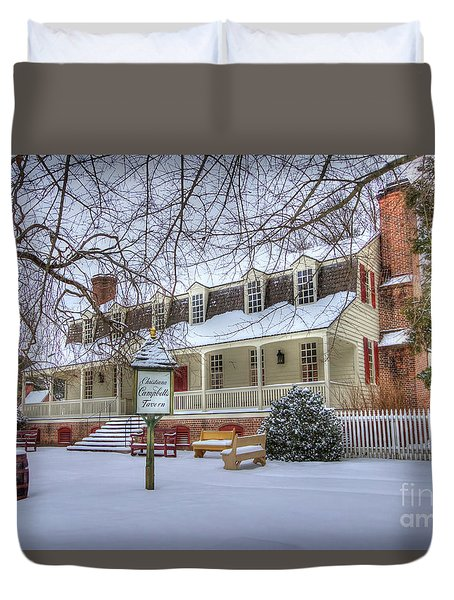 Christina Campbell Tavern Colonial Williamsburg Duvet Cover