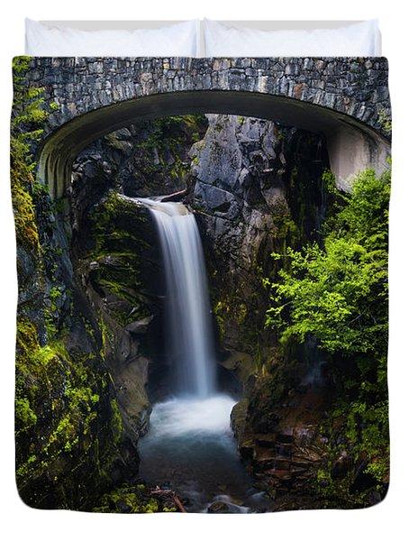 Christine Falls - Mount Rainer National Park Duvet Cover