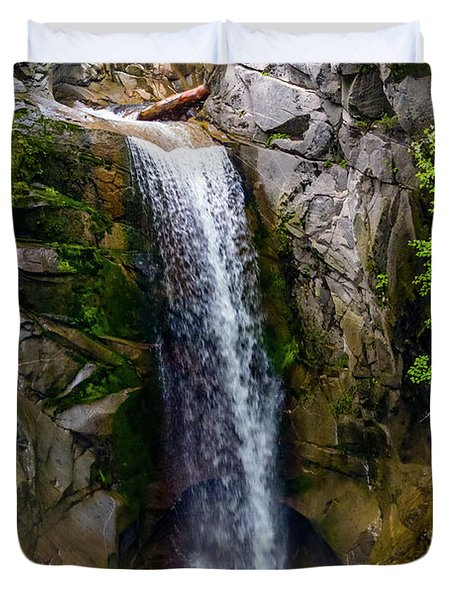 Christine Falls Mt Rainier Duvet Cover