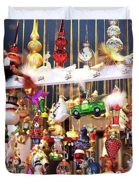 Christkindlmarkt Ornaments Munich Duvet Cover