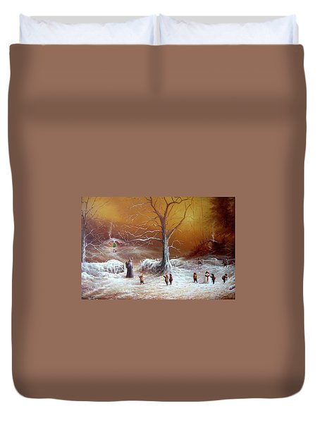 A Shire Christmas  Duvet Cover