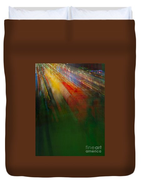 Christmas Abstract Duvet Cover