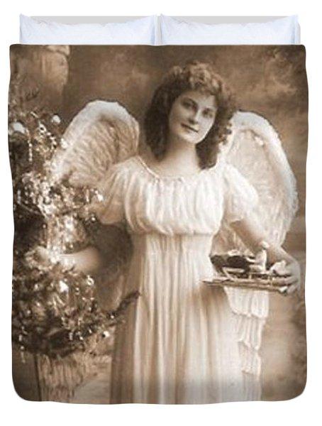 Christmas Angel Duvet Cover