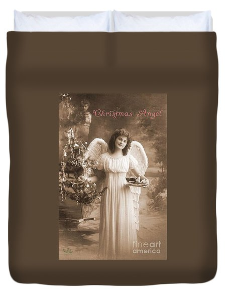 Christmas Angel Duvet Cover