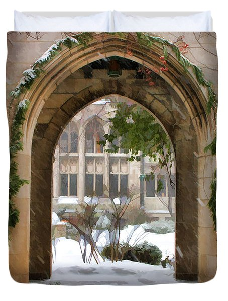 Christmas Arch Duvet Cover by Christopher Arndt