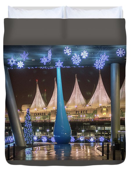 Christmas At Canada Place Duvet Cover