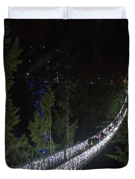 Christmas At Capilano Suspension Bridge Duvet Cover