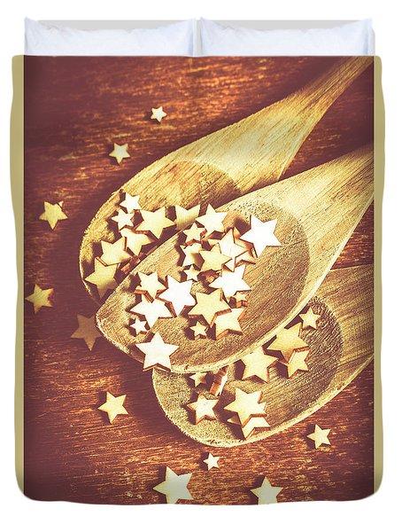 Christmas Baking Background Duvet Cover