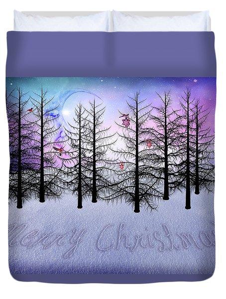 Christmas Bare Trees Duvet Cover