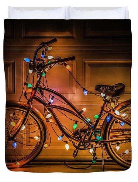 Christmas Bike Duvet Cover