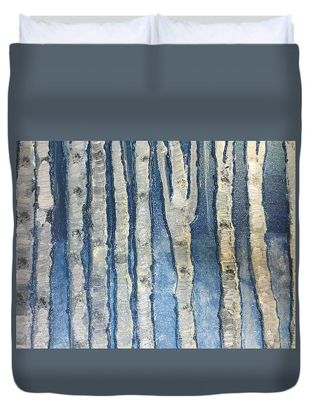 Christmas Birches Duvet Cover