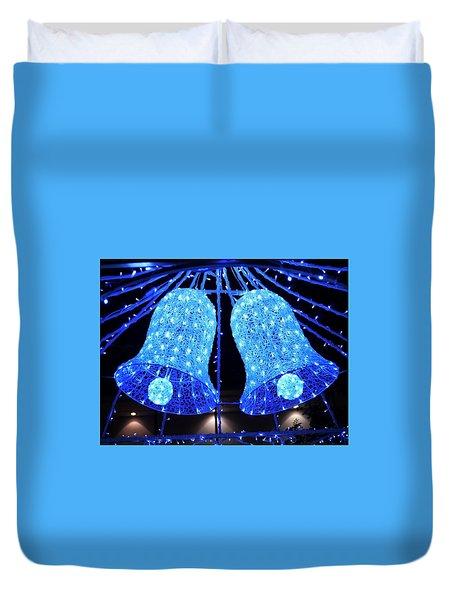 Christmas Blue Bells Duvet Cover