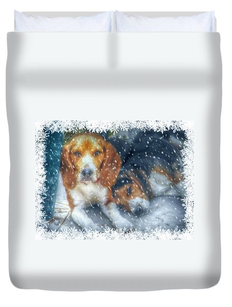Christmas Brothers Duvet Cover