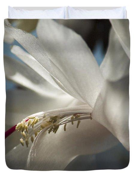 Christmas Cactus Blossom Duvet Cover