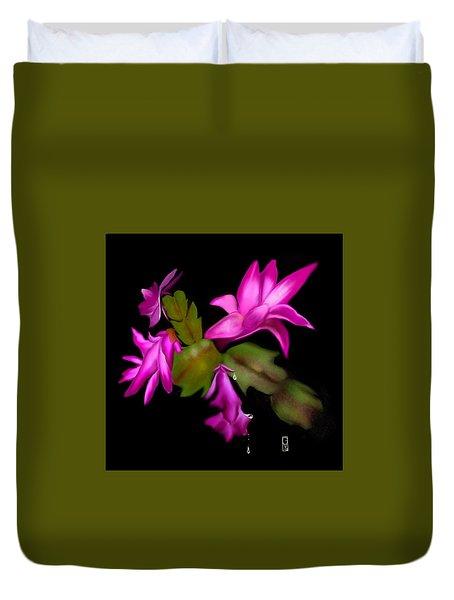 Christmas Cactus Duvet Cover