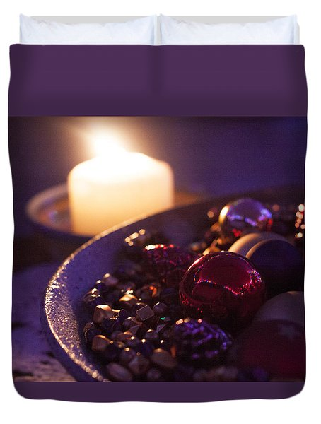 Christmas Candlelight Duvet Cover