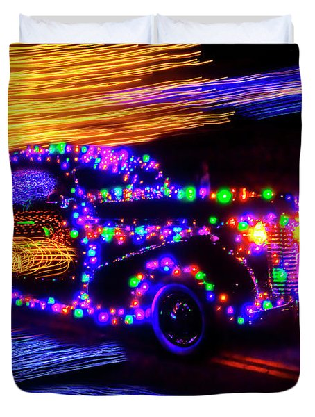 Christmas Car Duvet Cover