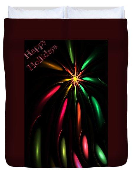 Christmas Card 110810 Duvet Cover by David Lane