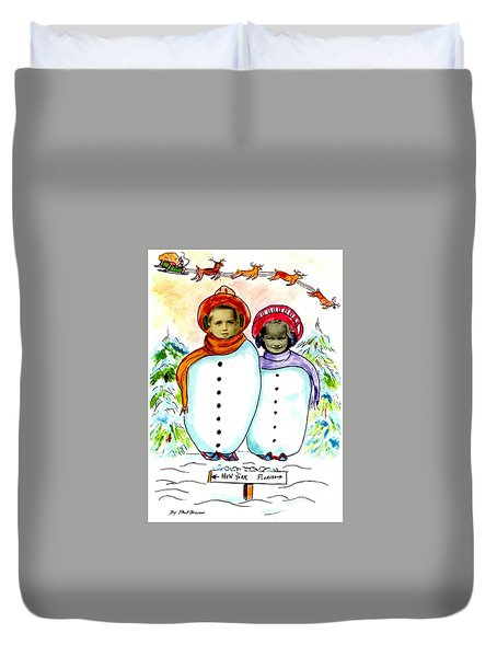 Happy Holidays Duvet Cover by Philip Bracco