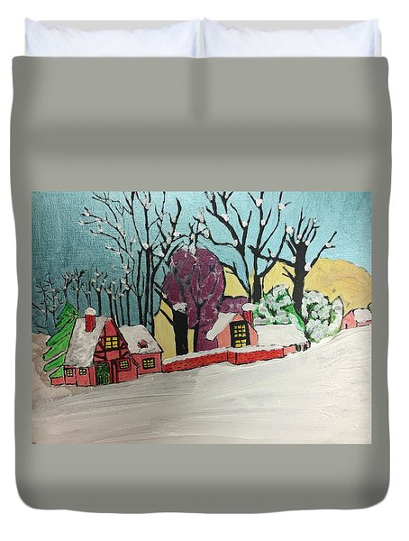 Christmas Card Duvet Cover