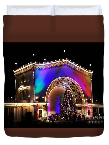 Christmas Celebration In San Diego  Duvet Cover