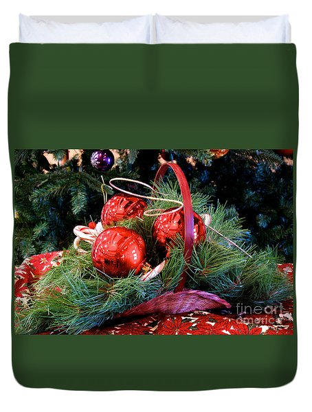 Duvet Cover featuring the photograph Christmas Centerpiece by Vinnie Oakes