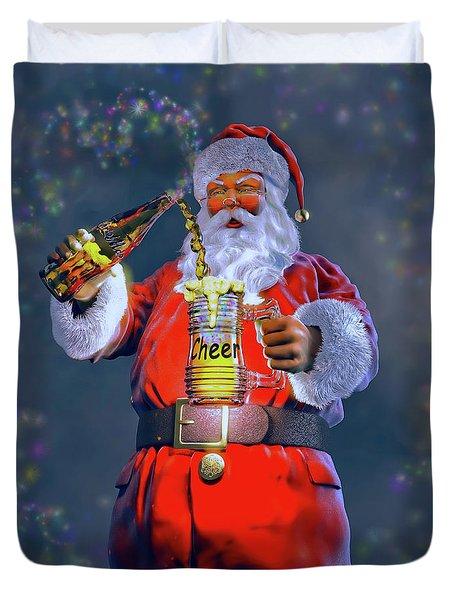 Christmas Cheer Iv Duvet Cover by Dave Luebbert