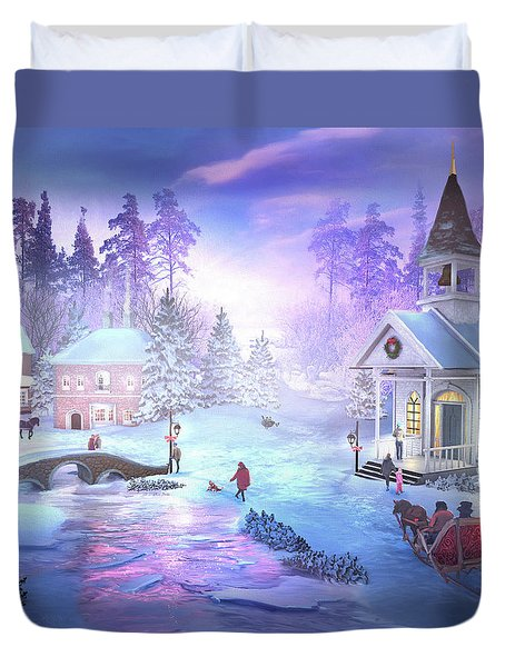 Christmas Creek Duvet Cover