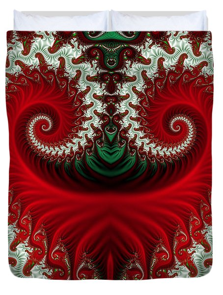 Christmas Swirls Duvet Cover