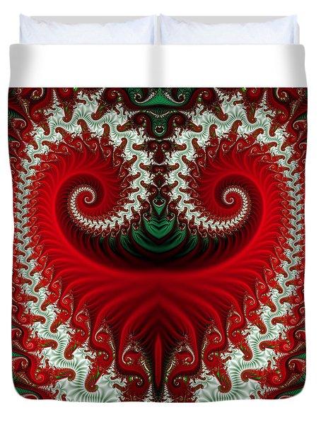 Christmas Swirls Duvet Cover