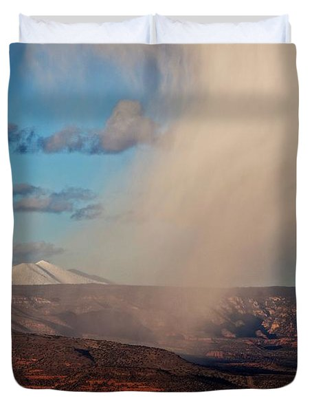 Christmas Day Snow Mix San Francisco Peaks Duvet Cover