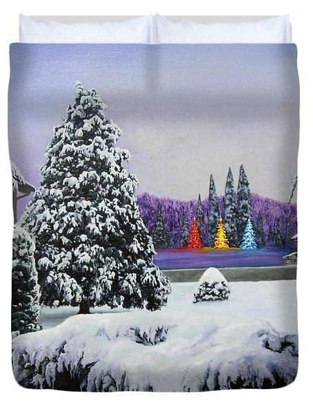 Silent Night Duvet Cover by Richard Barone