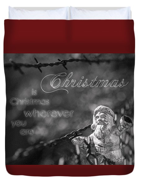 Duvet Cover featuring the photograph Christmas Everywhere by Caitlyn Grasso