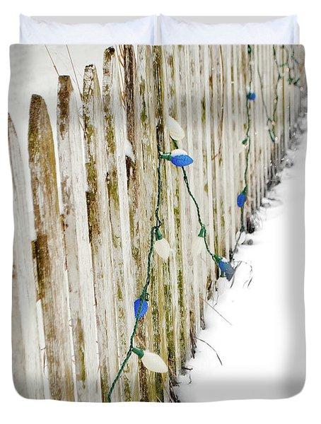 Christmas Fence Duvet Cover